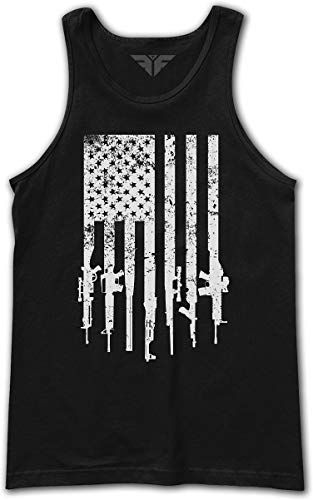 The Fighting Forces Rifle Flag 2nd Amendment Tank Tanktop