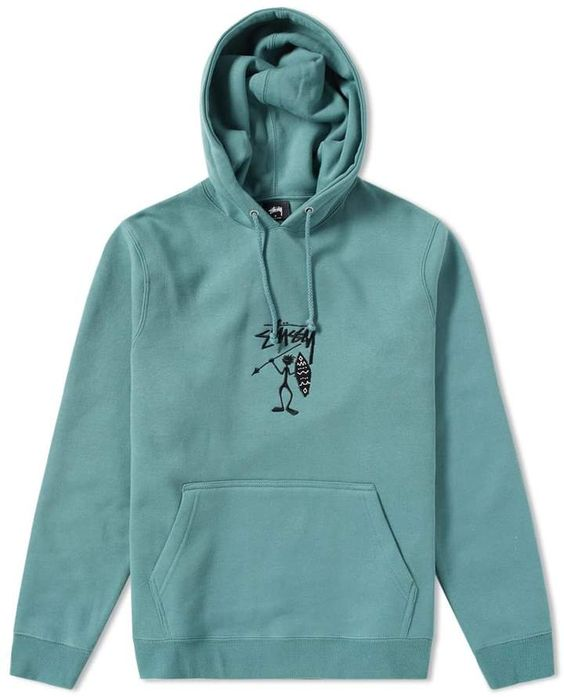 the Stussy Tribe Man Applique Hoody