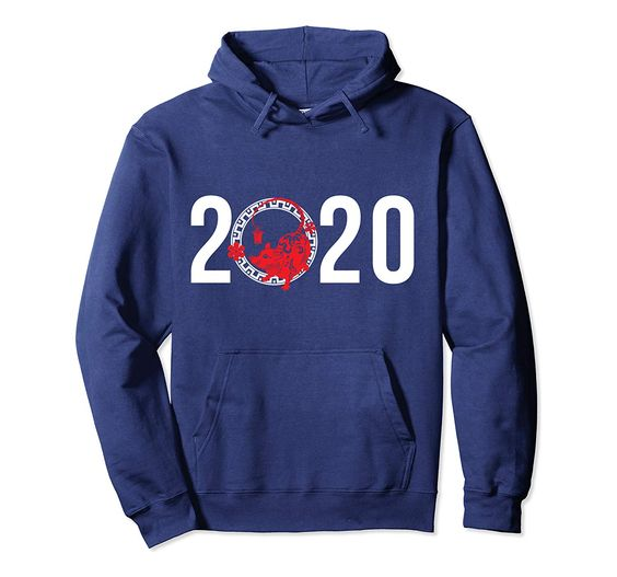 2020 Asian Oriental Rat Chinese New Year of Rats Pullover Hoodie
