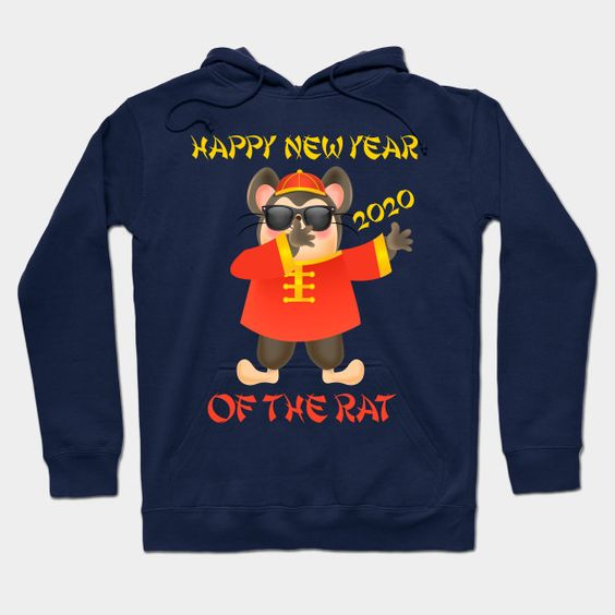 2020 Year Of The Rat Dab Dabbing Happy Chinese New Year Gift Hoodie