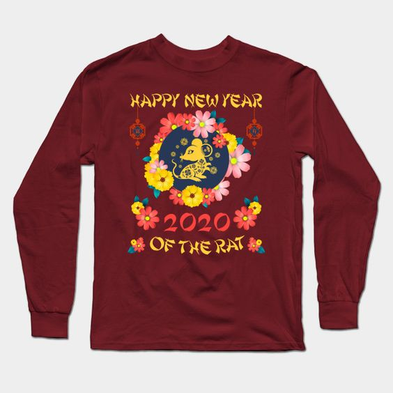 2020 Year Of The Rat Happy Chinese New Year Gift Tee Long Sleeve T Shirt