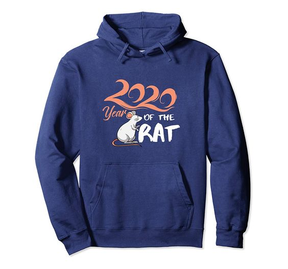 2020 Year Of The Rat Happy New Year Chinese Zodiac Calendar Pullover Hoodie