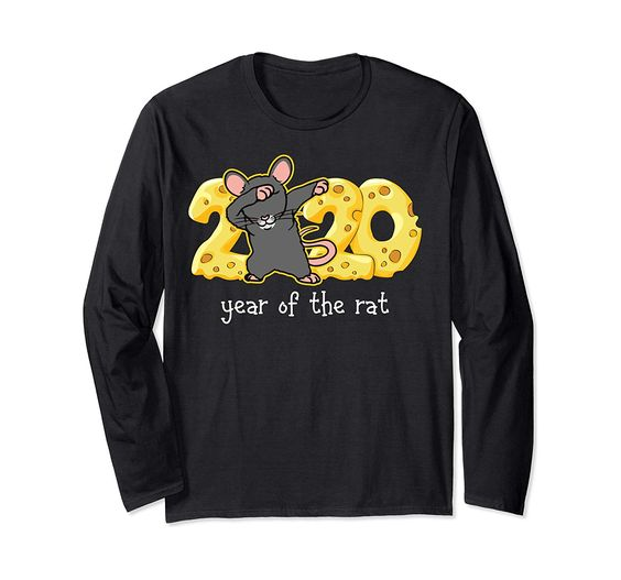 Dabbing rat year of the rat 2020 happy Chinese new year gift Long Sleeve T-Shirt