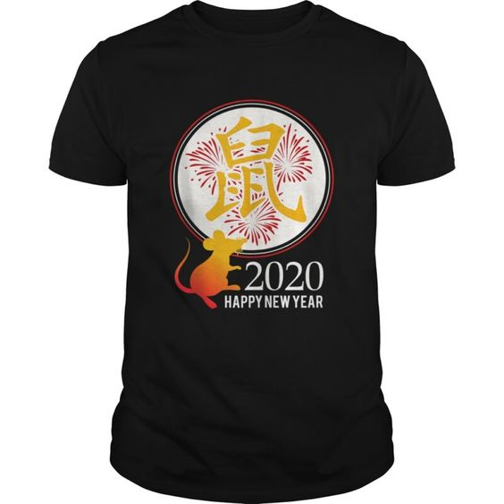 a Chinese New Year gifts 2020 Men Women Kids Year of the Rat T- shirt