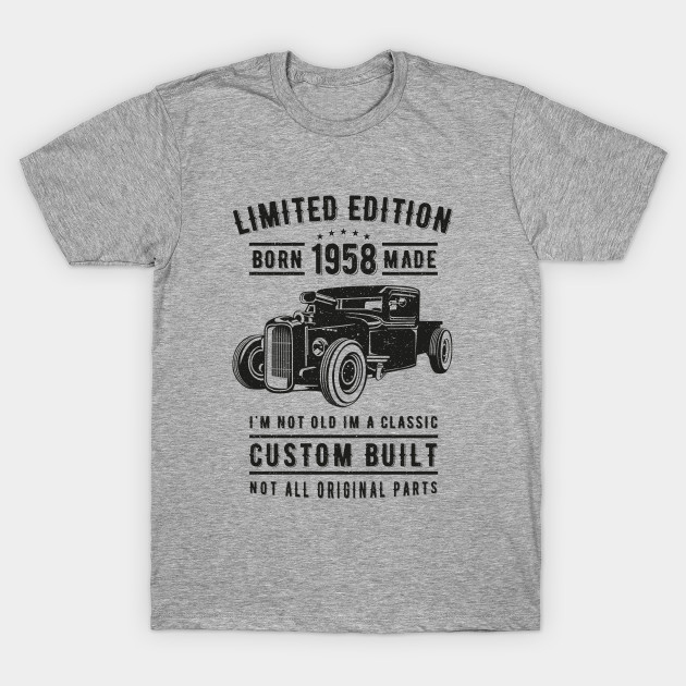 62nd Birthday Vintage 1958 Limited Edition T-Shirt AI