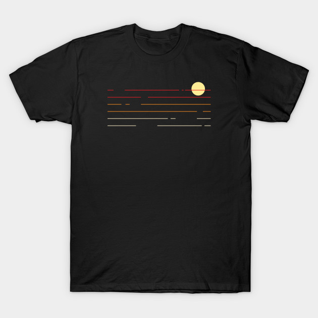 90s Sunset Lines T-Shirt AI