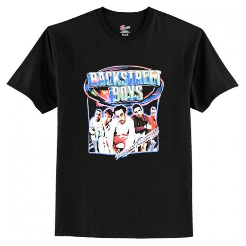Backstreet Boys Larger Than Life Black T Shirt AI